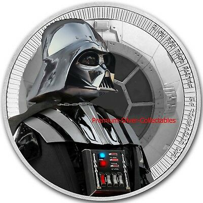 2017 Niue Star Wars Series Darth Vader - 1 Ounce Pure Silver .999 Coin!!