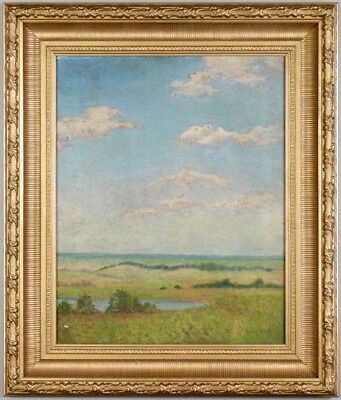 Helen Howell American School 19th C 1900s Original Oil Painting Landscape LISTED