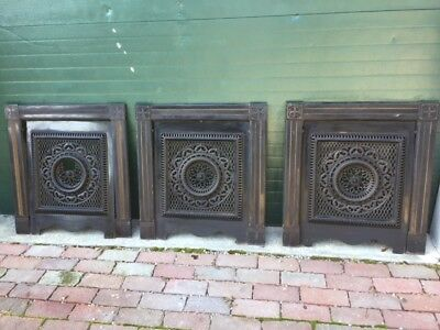 Vintage 1890's Fireplace Surround & Summer Cover, Screen, Heavy Piece