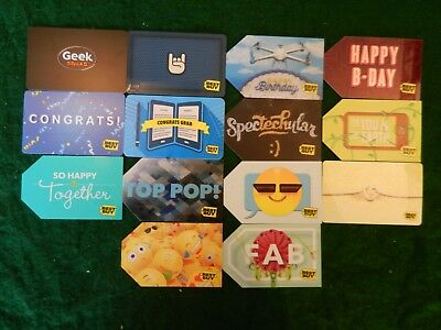 Lot Of Fourteen (14) All Different *best Buy* Gift Cards