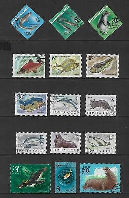 RUSSIA mixed collection No.57, Fish & Marine Life