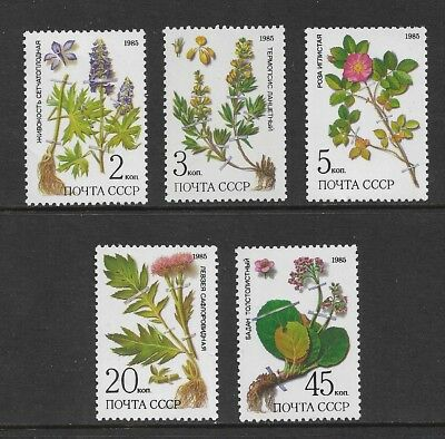 RUSSIA 1985 Plants of Siberia, mint set of 5, MNH MUH