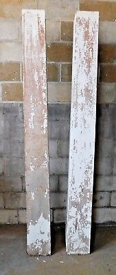 Two Antique Craftsman Tapered Porch Columns - C. 1905 Fir Architectural Salvage
