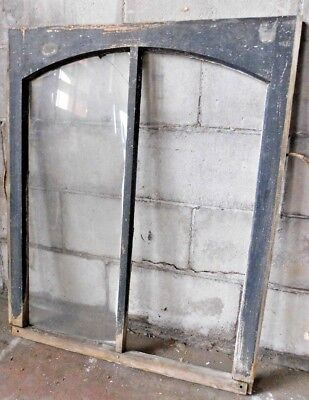 Antique Exterior Arch Top Window Sash - C. 1885 Pine Architectural Salvage