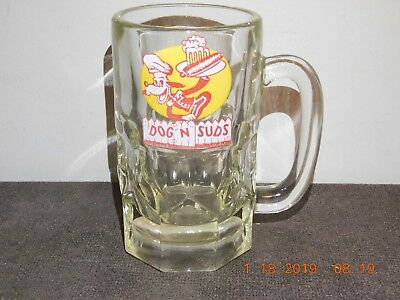 """Vintage Dog N Suds 6"""" Tall Root Beer Mug W/ Facets Perfect Condition"""