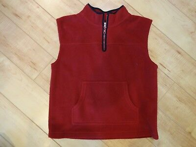 Boy Gymboree Red Fleece Pullover Vest 6 NWOT