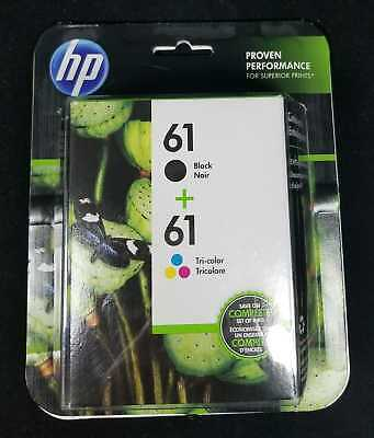 HP 61 Black + 61 Tri Color Ink Cartridges Combo NEW Sealed Box.