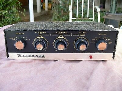 Heath Heathkit AA-20 12AX7 Tube Stereo Preamp Preamplifier Working