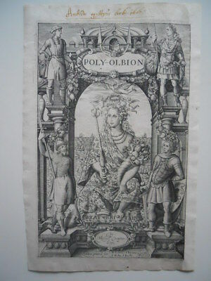 Title Page, Poly-Olbion, by Michael Drayton & William Hole, 1612.