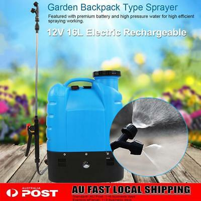 16L Electric Weed 12V Backpack Sprayer Rechargeable Farm Garden Pump Spray Tool