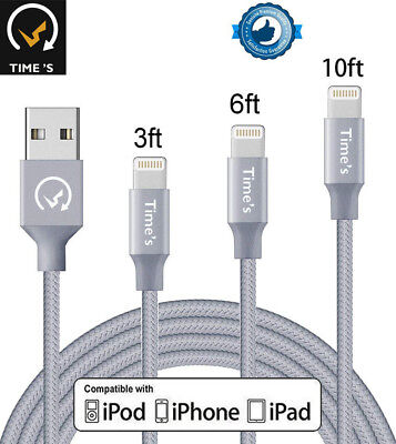 New Apple Lightning Cable Heavy Duty iPhone 8 7 Plus 6 XS Charger Charging Cord