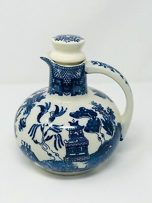 RARE Vintage Blue Willow Teapot Carafe Coffee Pot Jug Mid Century  Made in Japan