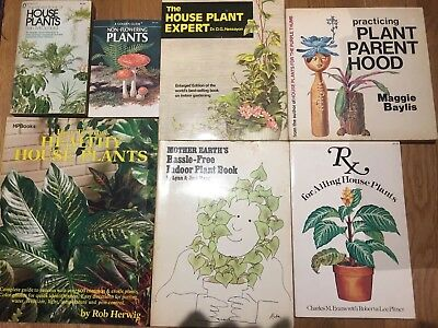 Lot Of 7 Vintage Gardening, House Plants, Patio, Terrace, Small Gardening Books