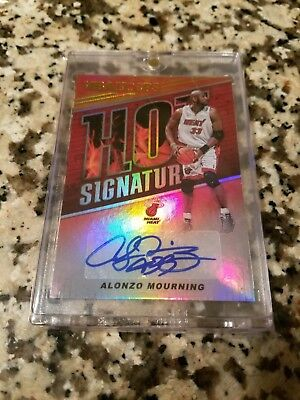 Alonzo Mourning 2018-19 Panini Nba Hoops Hot Signatures Autograph
