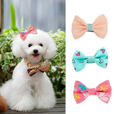 10Pcs/set Pet Dog Hair Clips Bow Tie Dog Grooming Accessories Bowknot Hair Band