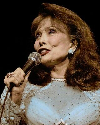 "LORETTA LYNN COUNTRY WESTERN SINGER SONGWRITER 8x10"" HAND COLOR TINTED PHOTO"