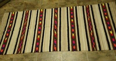 Vintage Navajo Native American Indian Style Rug Carpet Hand Woven Weaving