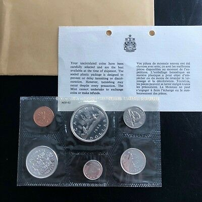 1966 Canada Silver Proof Like Mint Set Pl With Original Coa + Envelope!! Mint!