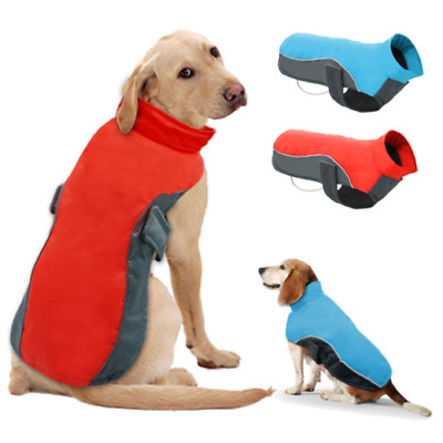 Waterproof Dog Coat Large Winter Jacket Reflective Dog Clothes Vest Warm Padded