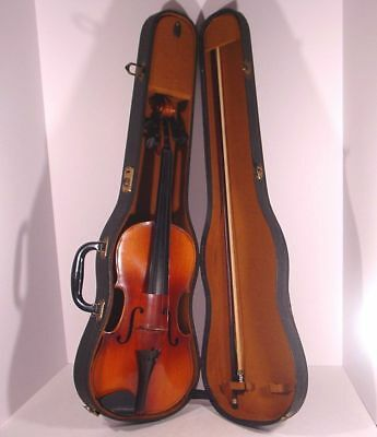 Estate Fresh ANTIQUE! CZECHOSLOVAKIA Made STRADIVARIUS 1726 VIOLIN & CASE & BOW