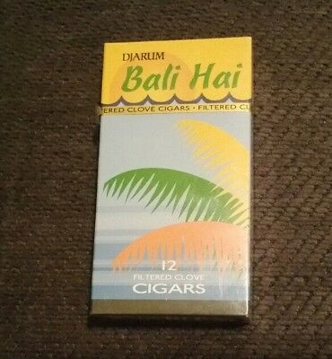 Bali Hai 1 Pack NEW Sealed (12) Djarum Cloves Filtered Cigars Kretek Inc. U.S.