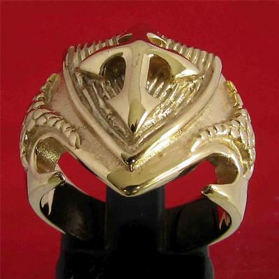 Medieval Cross Crusader Knight Templar Ring  - 3 Micron 18K Gold Plating
