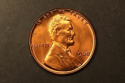 1960 Lincoln Memorial 1c cent small date BU Brilliant Unc #RRB-4243