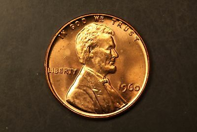 1960 Lincoln Memorial 1c cent small date BU Brilliant Unc #RRB-4234