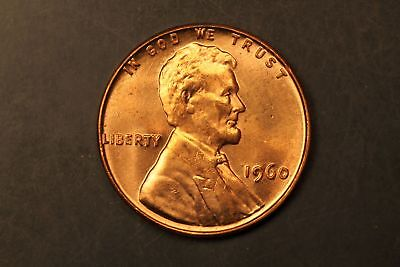 1960 Lincoln Memorial 1c cent small date BU Brilliant Unc #RRB-4230