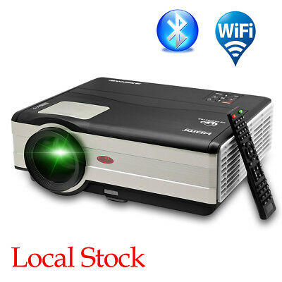 HD Video Projector WiFi Wireless LCD LED Multimedia Bluetooth Airplay Miracast