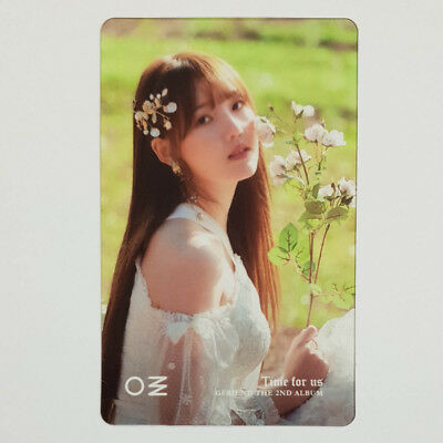 Yerin Official Clear Photocard GFriend Time for us 2nd Album Kpop Genuine
