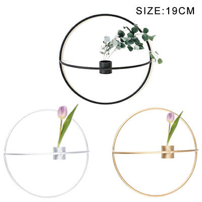 Metal 3D Geometric Circle Candlestick Wall-mounted Candle Holder Home Decor