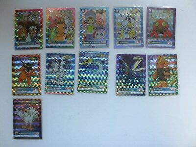 Digimon Trading Cards Series 1 - 11 Foil Cards Lot