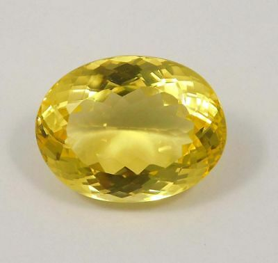 Treated Faceted Citrine Marvelous Cabochon Loose Gemstone 52 ct 27x20 mm NG12141