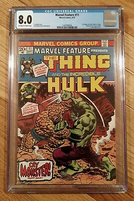 Marvel Feature #11 CGC 8.0 1st Thing Solo Book vs Hulk - Two-In-One Prototype