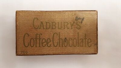 Vintage old empty Cadbury's coffee chocolate box - rare