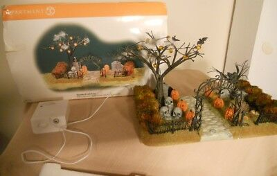 Dept. 56 Halloween Lighted Graveyard - Haunted Front Yard, Slightly Imperfect