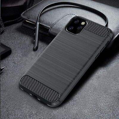 For Apple iPhone 8 7 Plus Slim Carbon Fiber Texture Soft TPU Rubber Case Cover