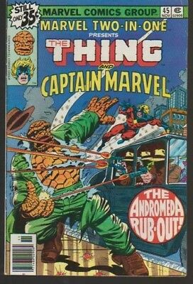 Marvel Two-In-One # 45 Captain Marvel!! 1978 Hot!! Very Fine Plus