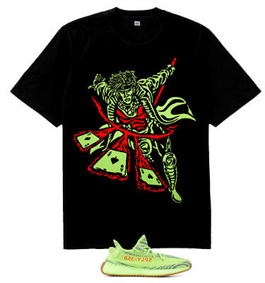 New Gambit Pastel Volt Red shirt to match  Yeezy Boost 350 V2 Semi Frozen Yellow