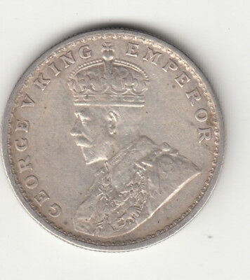 1915 British India Kgv King George 5Th One Rupee Silver Coin Bombay Mint