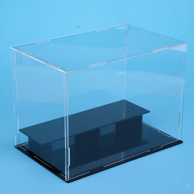 2 Tiers Clear Acrylic Display Case Box 36x16x16cm for Model Toy Collectibles