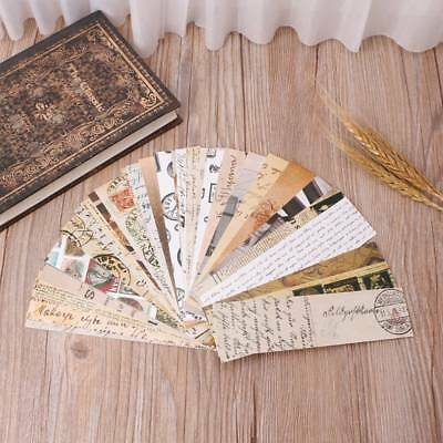 30PCS/Pack Retro Letter Bookmark Paper Bookmarks Marker School Office Supplies