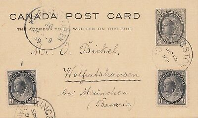 Canada: 1899: Kingstown to Wolfratshausen/Germany