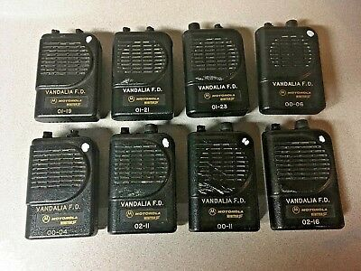 Lot of 8 Motorola Minitor III (3) VHF Pagers - Working, Broken Knobs