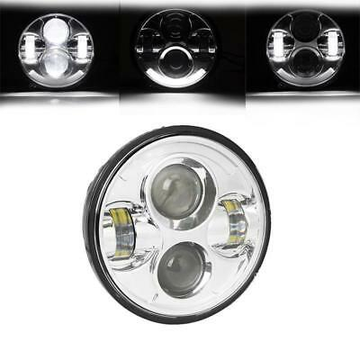 """5.75"""" Motorcycle LED DRL Projector Headlight Fits Harley Davidson Sportster Dyna"""