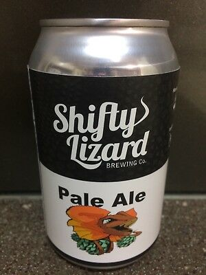 1 X 330ml Shifty Lizard Brewing - Shifty Lizard Pale Ale Craft Beer Can -sticker