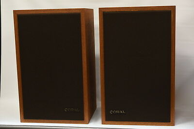 Coral Vintage Speakers - Made in Japan - Very Good Working Condition