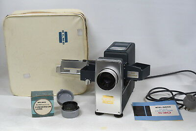 Elmo S-30 35mm Slide Projector and Conversion Lens - Vintage - Rare