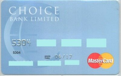 Choise bank ;Expired Belize Mastercard ;credit card